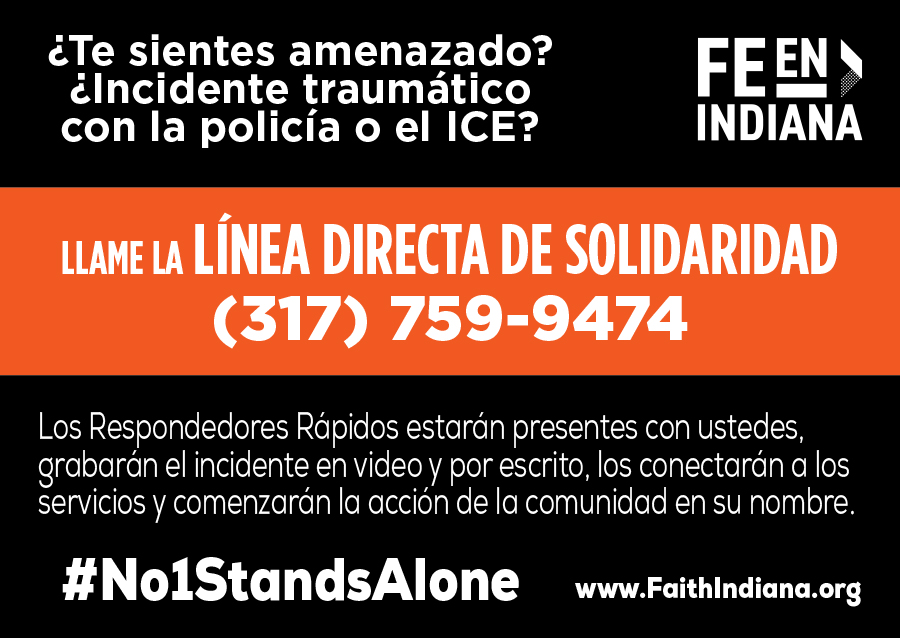 Solidarity Hotline card - Spanish