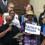 Faith in Indiana clergy on steps of statehouse