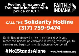 Solidarity Hotline Card - English - Wallet Card